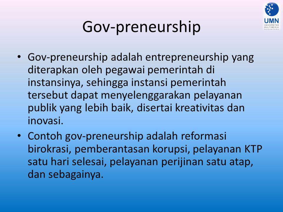 Gov-preneurship