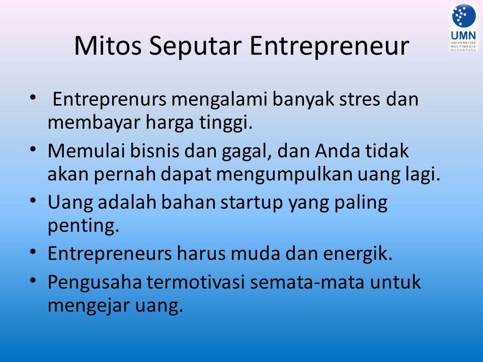 Mitos Seputar Entrepreneur