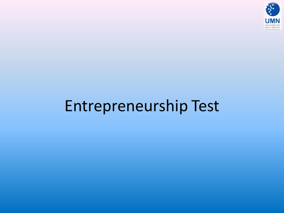 Entrepreneurship Test
