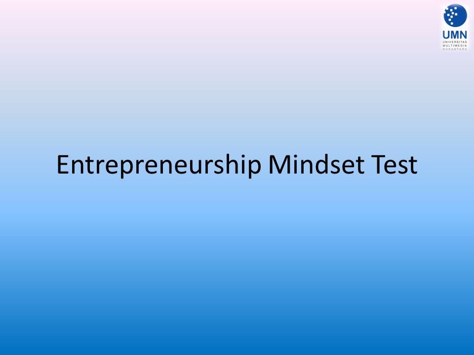 Entrepreneurship Mindset Test