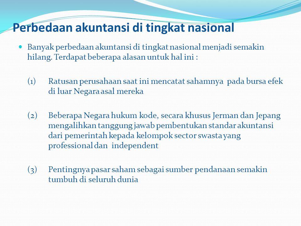 Perbedaan akuntansi di tingkat nasional