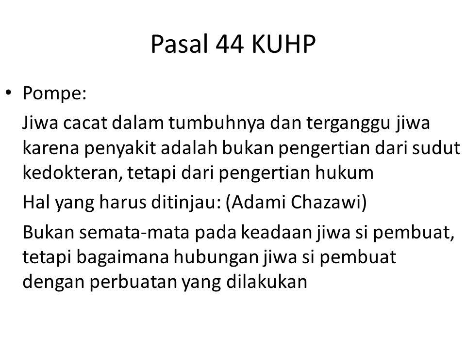 Pasal 44 KUHP Pompe: