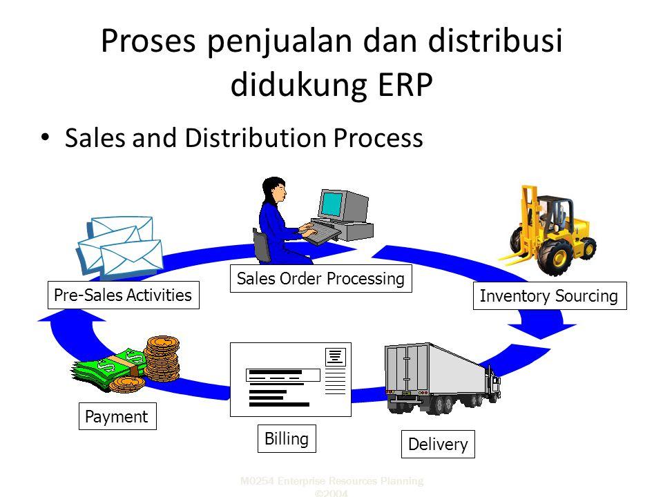 Proses penjualan dan distribusi didukung ERP