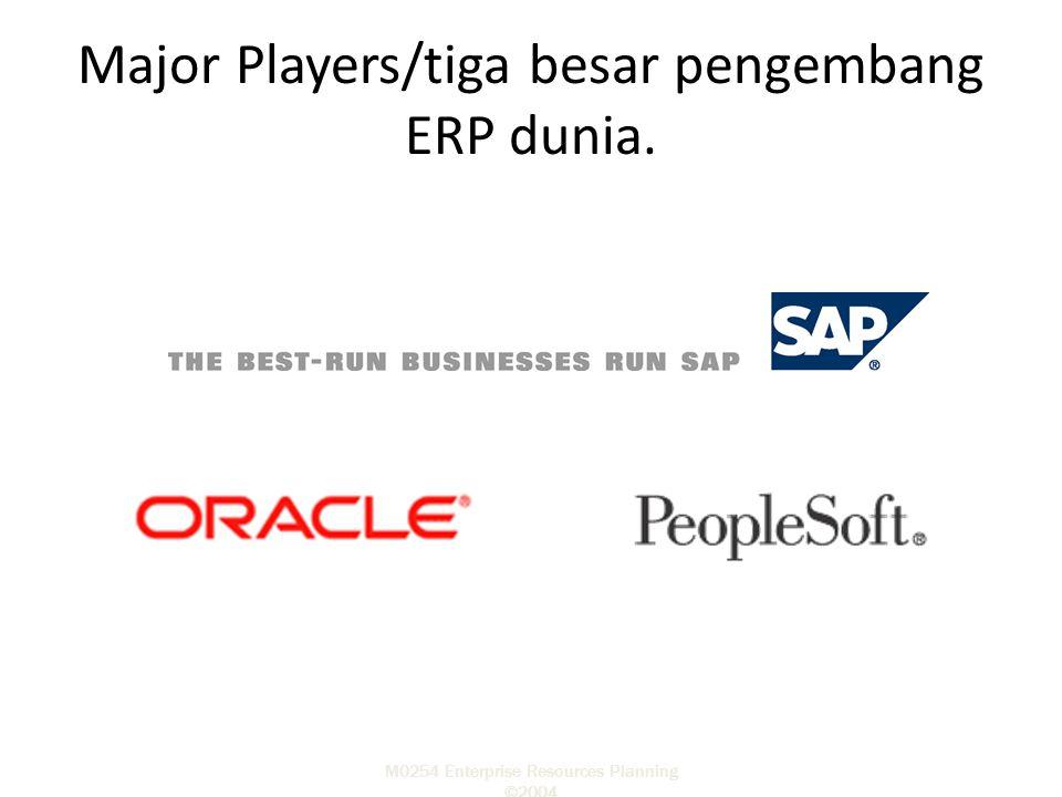 Major Players/tiga besar pengembang ERP dunia.