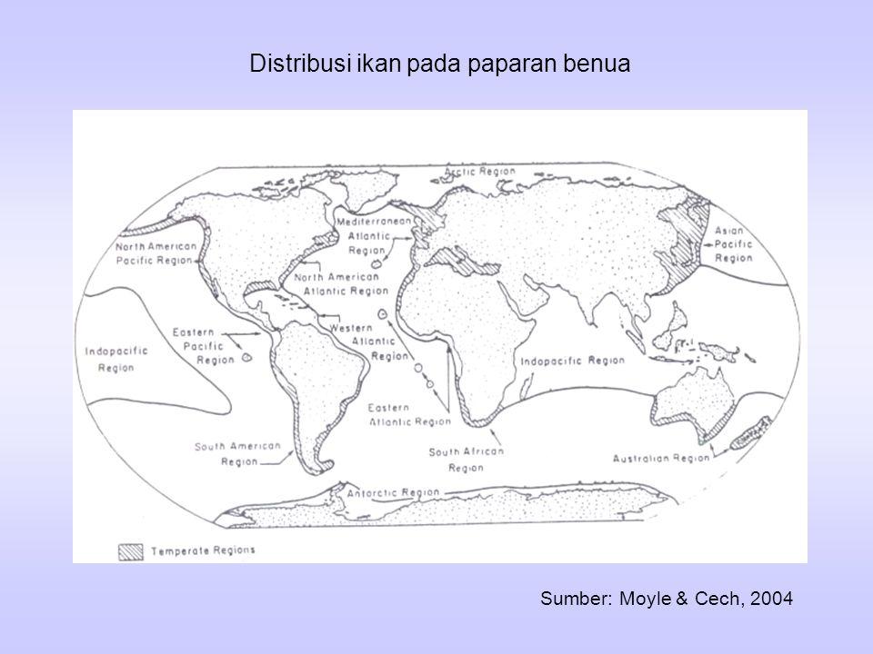 Distribusi ikan pada paparan benua