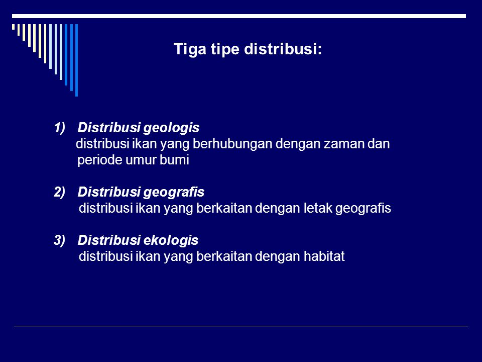 Tiga tipe distribusi: Distribusi geologis