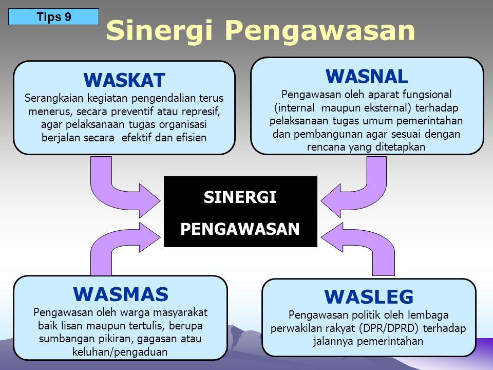 Sinergi Pengawasan WASNAL WASKAT WASMAS WASLEG SINERGI PENGAWASAN