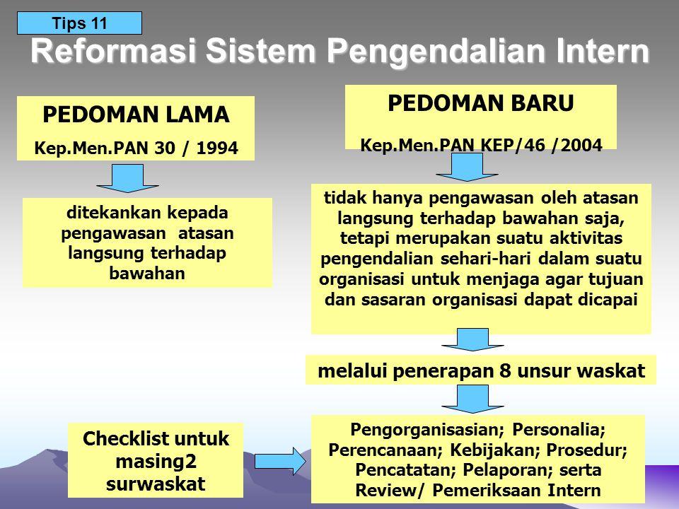 Reformasi Sistem Pengendalian Intern