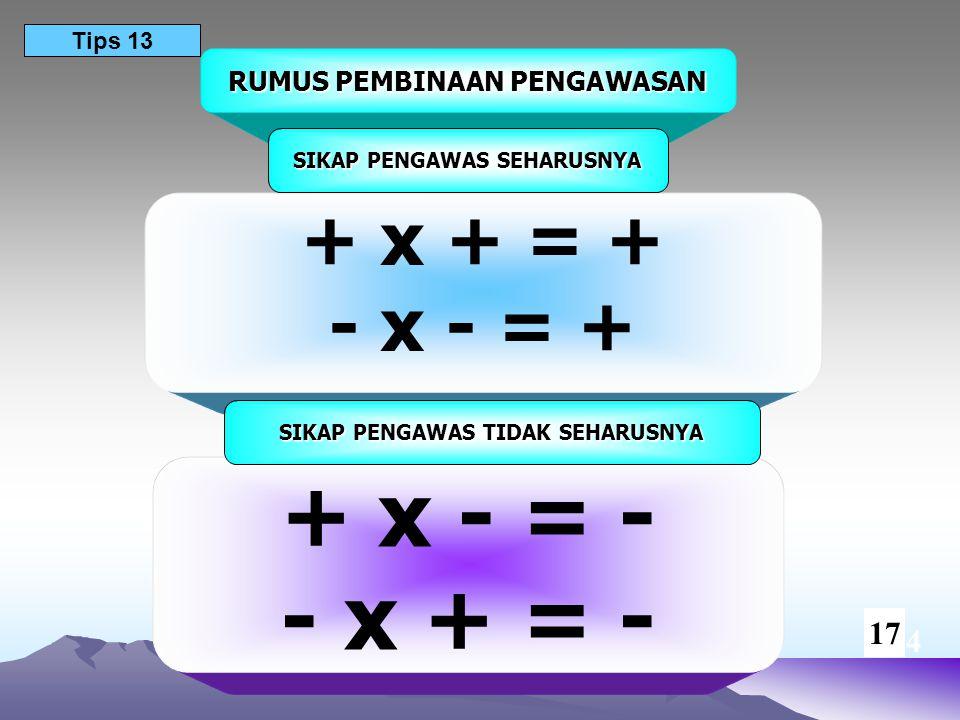 + x - = - - x + = - + x + = + - x - = + 17 14