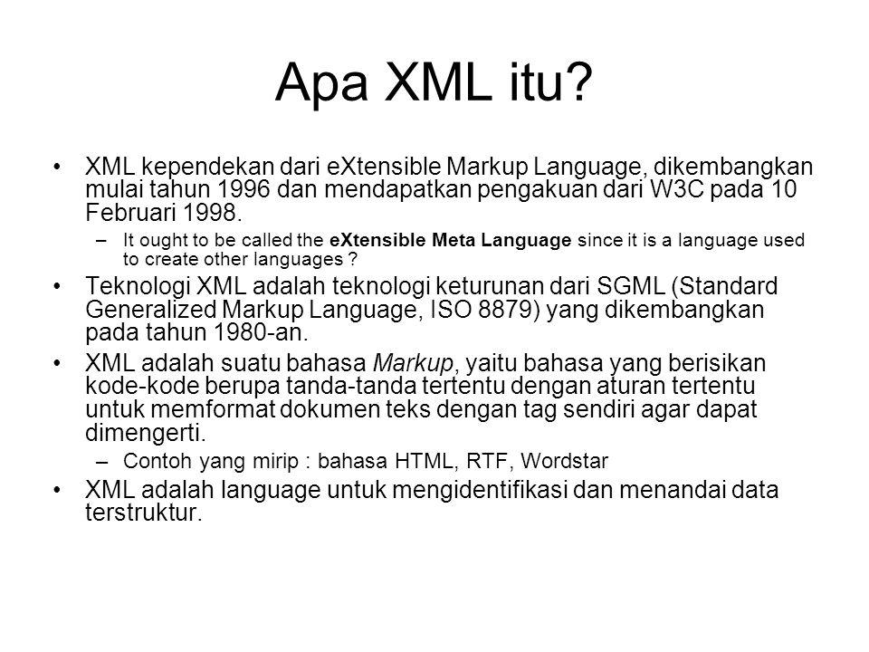 Apa XML itu