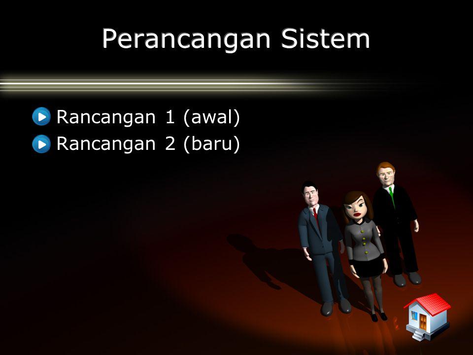 Perancangan Sistem Rancangan 1 (awal) Rancangan 2 (baru)