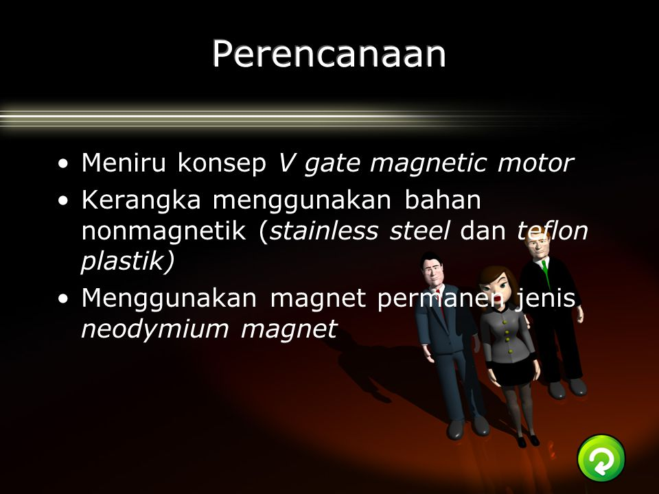 Perencanaan Meniru konsep V gate magnetic motor
