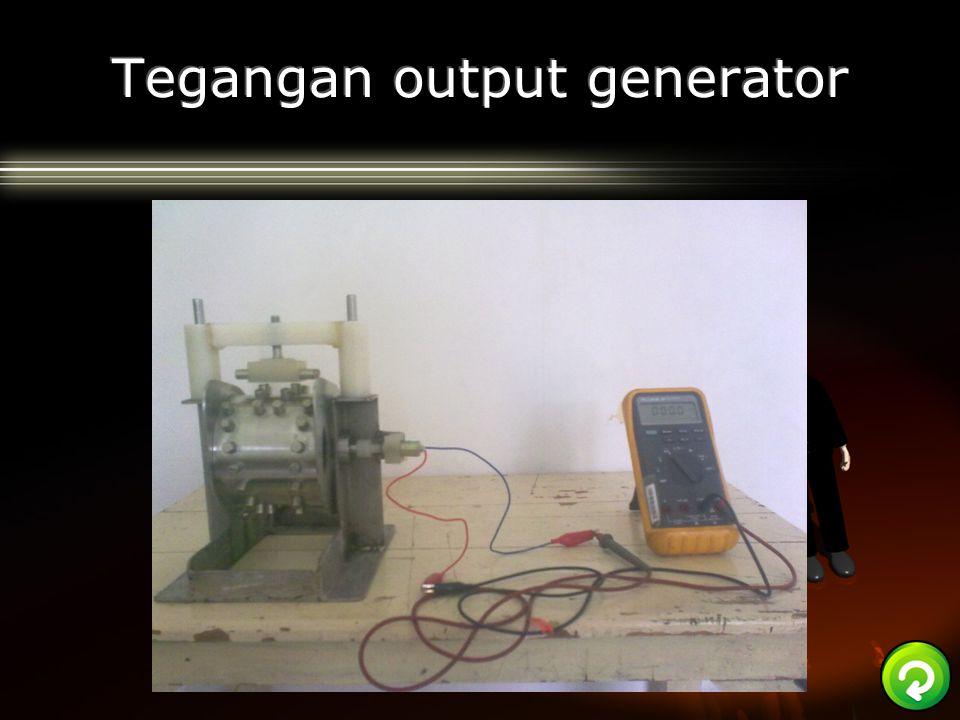 Tegangan output generator