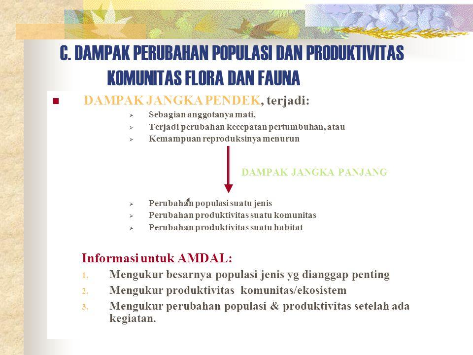 C. DAMPAK PERUBAHAN POPULASI DAN PRODUKTIVITAS
