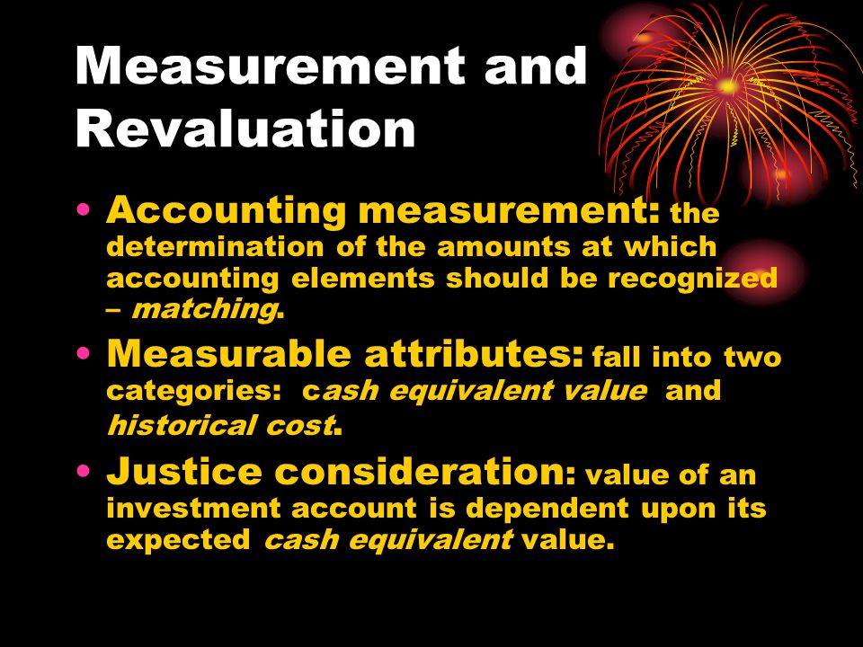 Measurement and Revaluation
