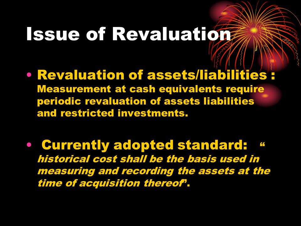 Issue of Revaluation