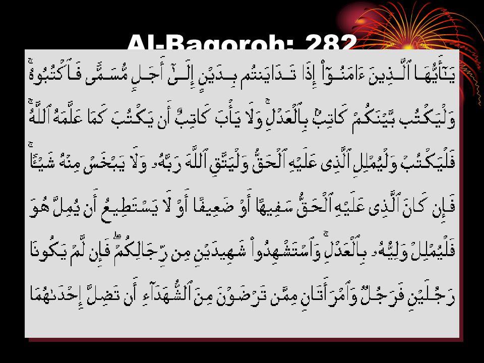 Al-Baqoroh: 282