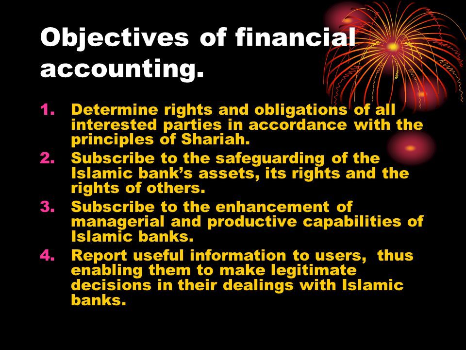 Objectives of financial accounting.