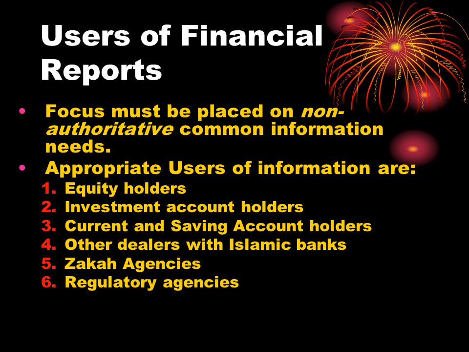Users of Financial Reports