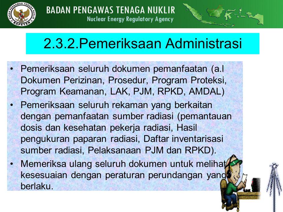 2.3.2.Pemeriksaan Administrasi
