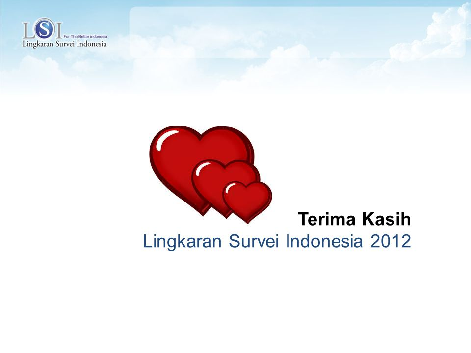 Terima Kasih Lingkaran Survei Indonesia 2012