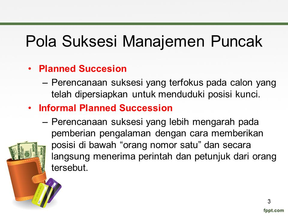 Pola Suksesi Manajemen Puncak