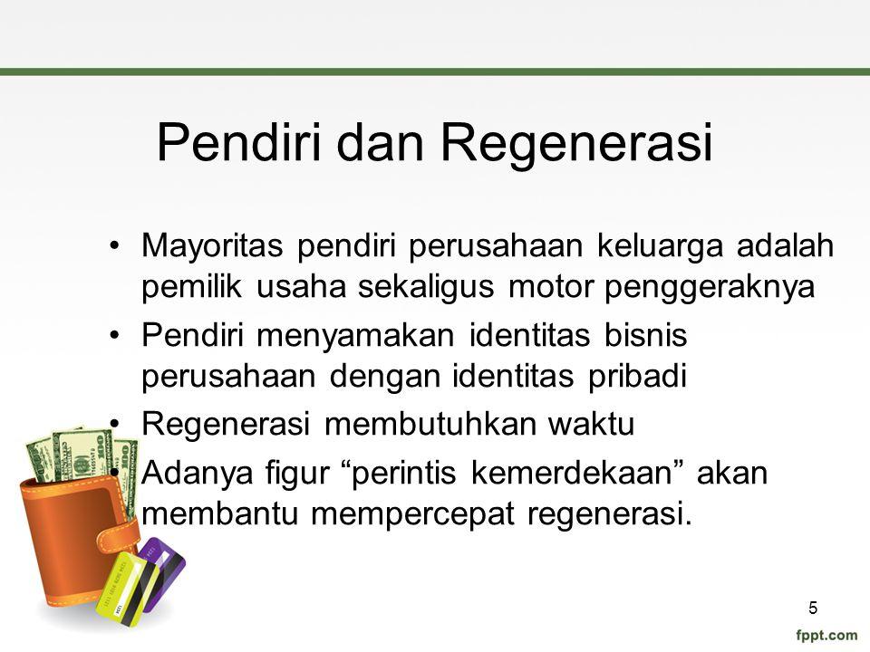 Pendiri dan Regenerasi