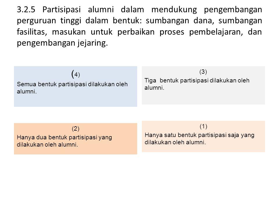 (3) Tiga bentuk partisipasi dilakukan oleh alumni.