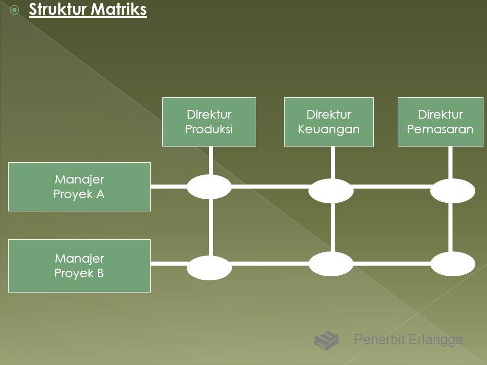 Struktur Matriks Penerbit Erlangga Direktur Produksi Direktur Keuangan