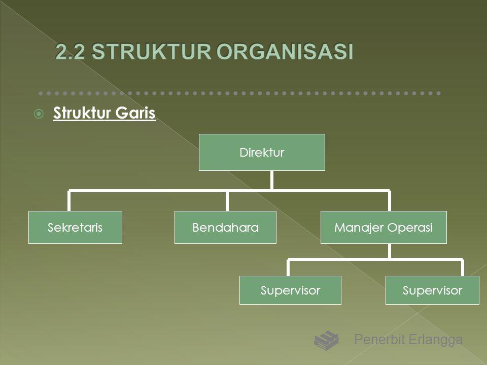 2.2 STRUKTUR ORGANISASI Struktur Garis Penerbit Erlangga Direktur