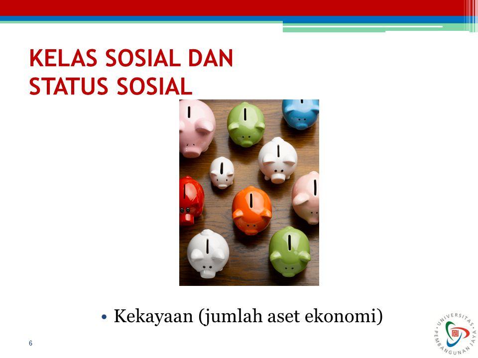 KELAS SOSIAL DAN STATUS SOSIAL