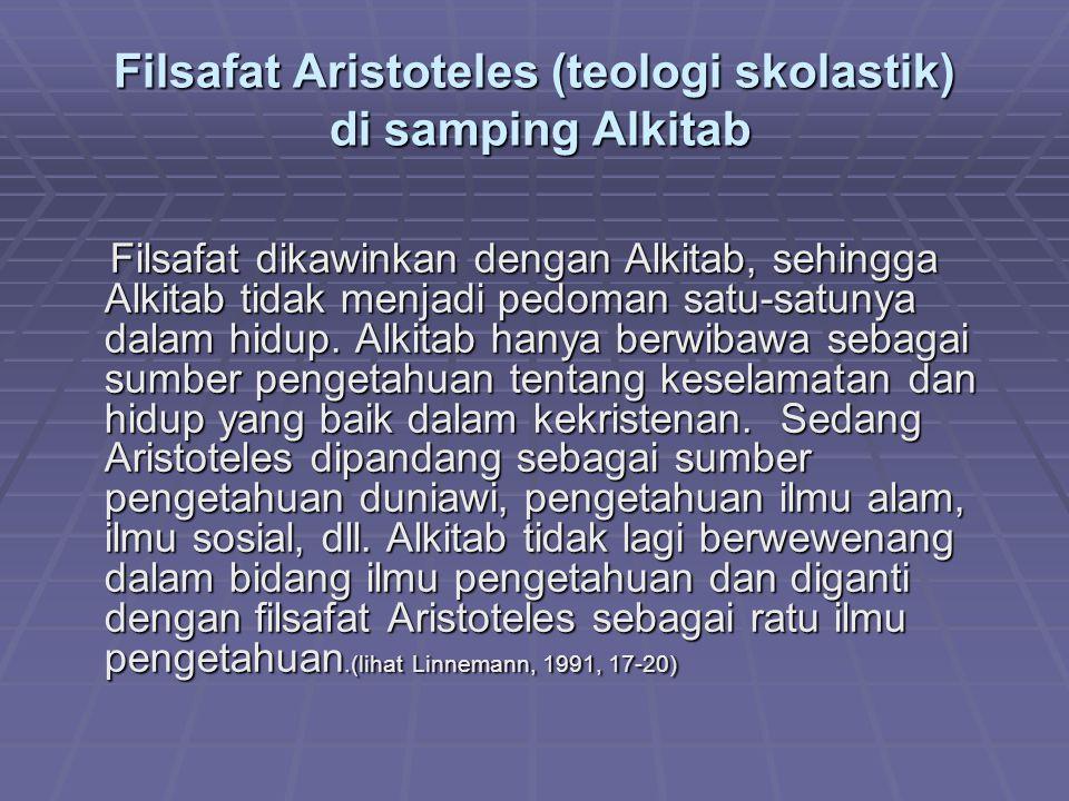 Filsafat Aristoteles (teologi skolastik) di samping Alkitab