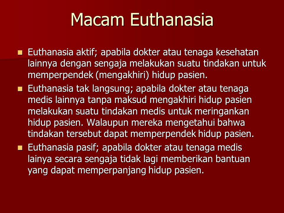 Macam Euthanasia