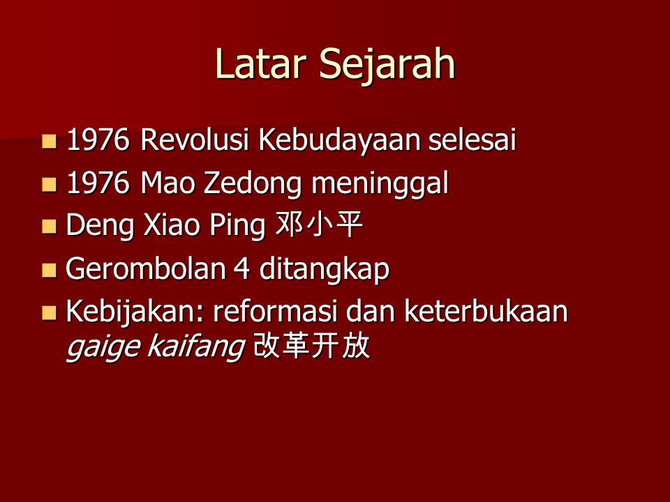 Latar Sejarah 1976 Revolusi Kebudayaan selesai