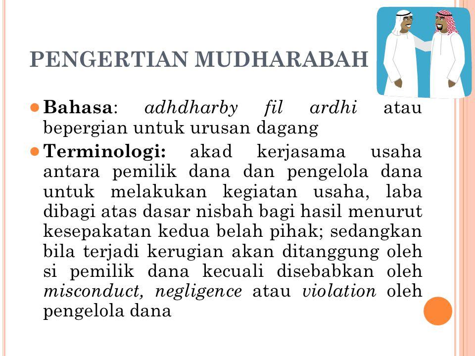PENGERTIAN MUDHARABAH