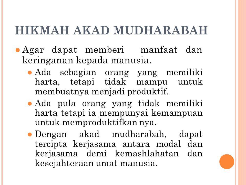 HIKMAH AKAD MUDHARABAH