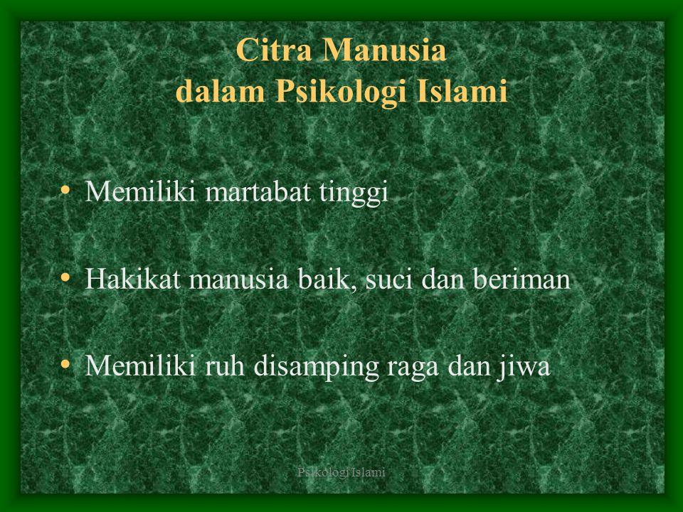 Citra Manusia dalam Psikologi Islami