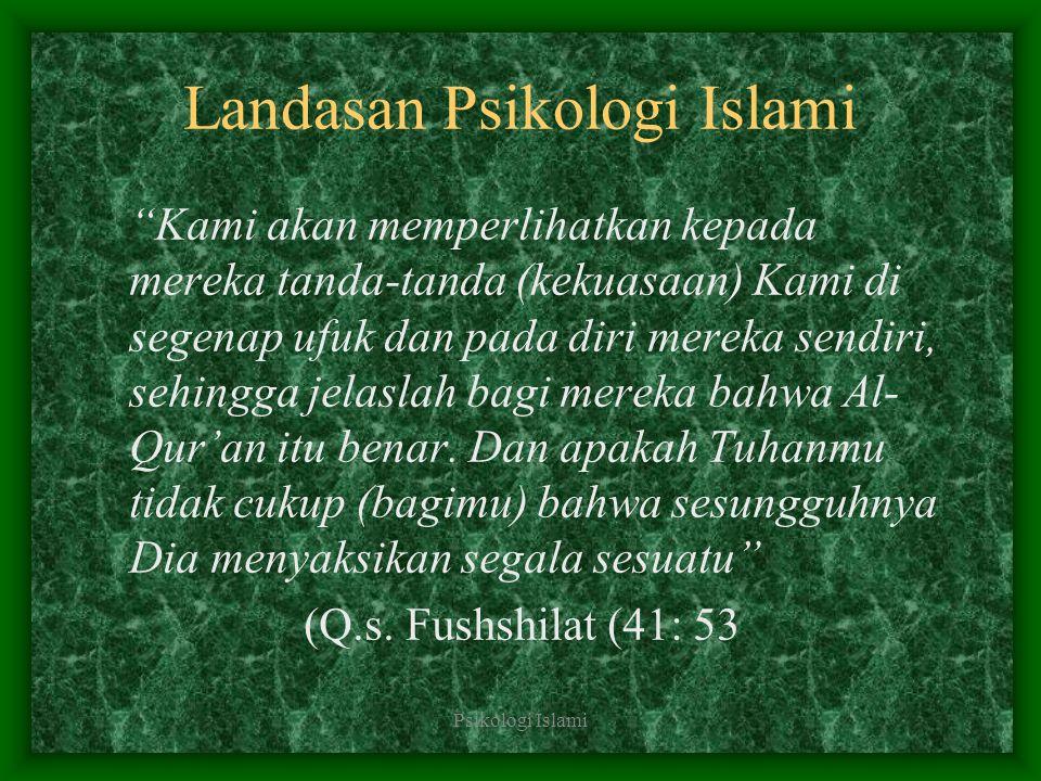 Landasan Psikologi Islami
