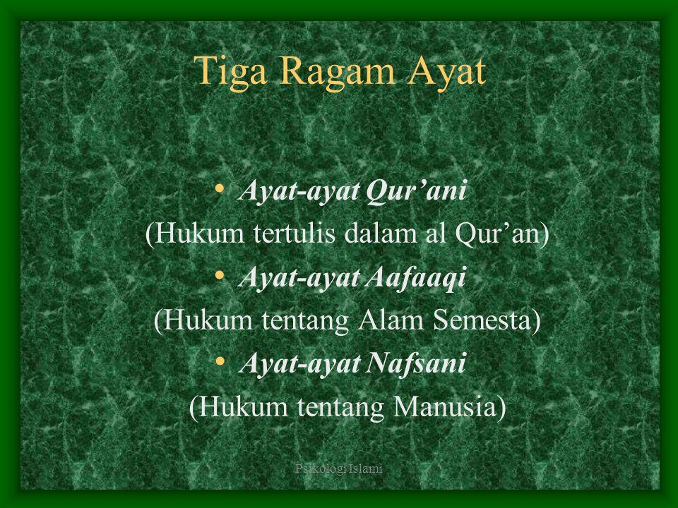 Tiga Ragam Ayat Ayat-ayat Qur'ani (Hukum tertulis dalam al Qur'an)