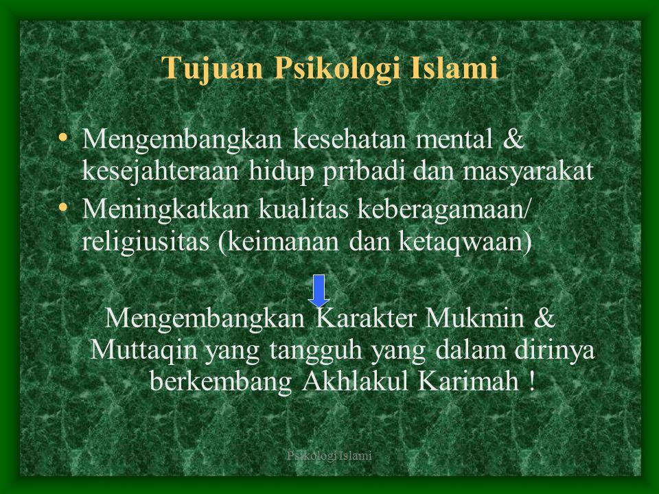 Tujuan Psikologi Islami