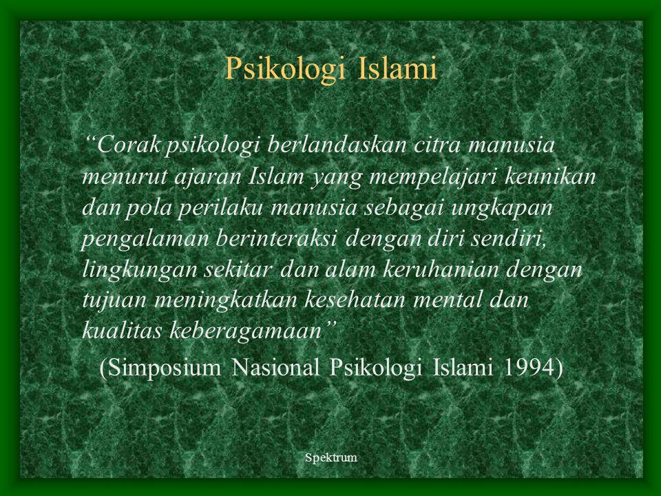 (Simposium Nasional Psikologi Islami 1994)