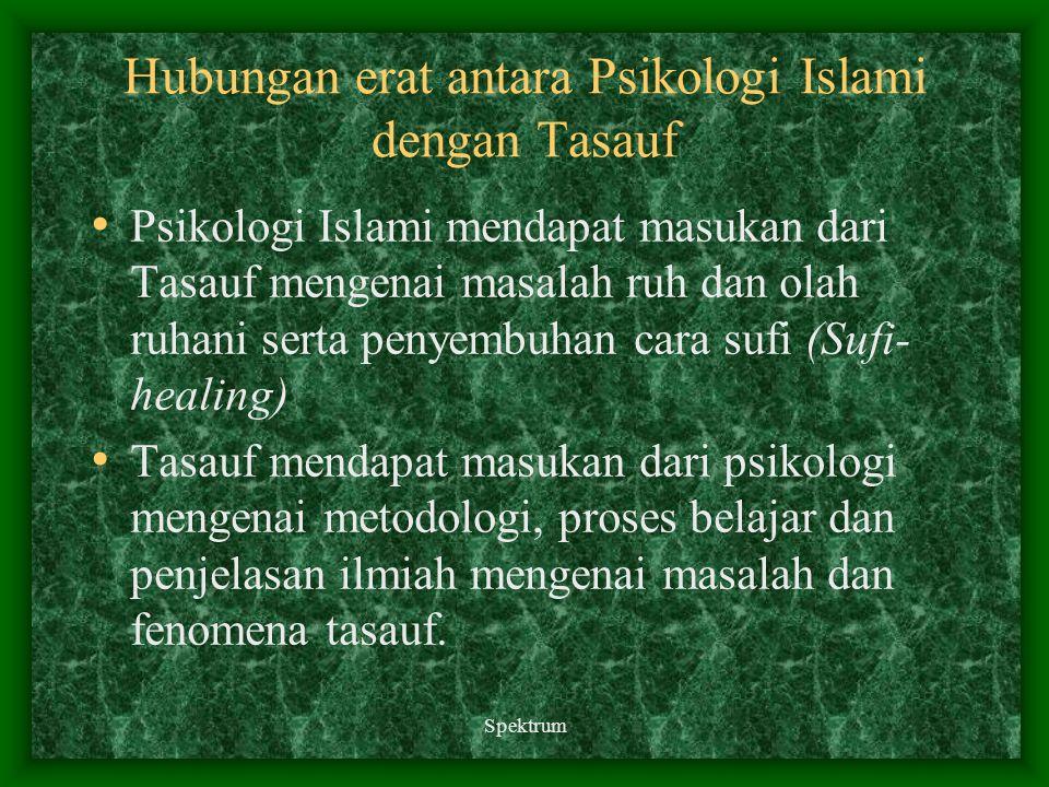 Hubungan erat antara Psikologi Islami dengan Tasauf