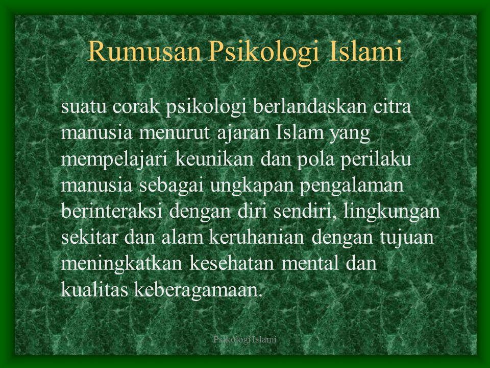 Rumusan Psikologi Islami