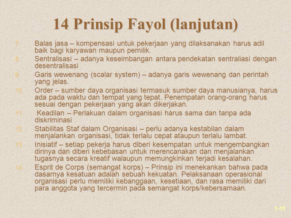 14 Prinsip Fayol (lanjutan)