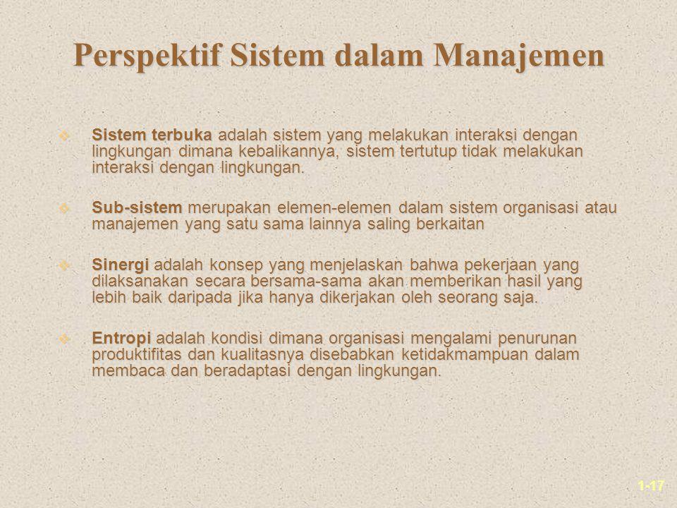 Perspektif Sistem dalam Manajemen