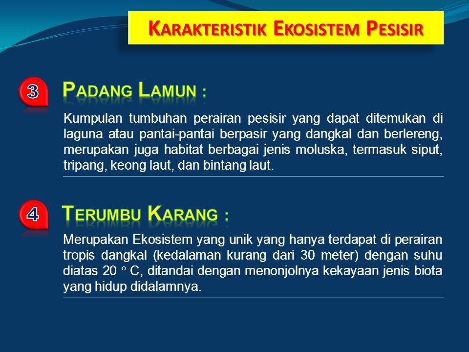 KARAKTERISTIK EKOSISTEM PESISIR