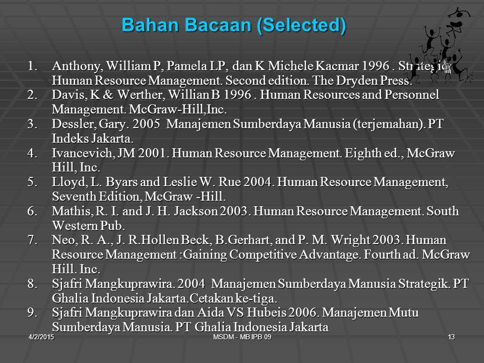 Bahan Bacaan (Selected)