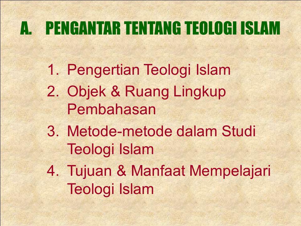PENGANTAR TENTANG TEOLOGI ISLAM