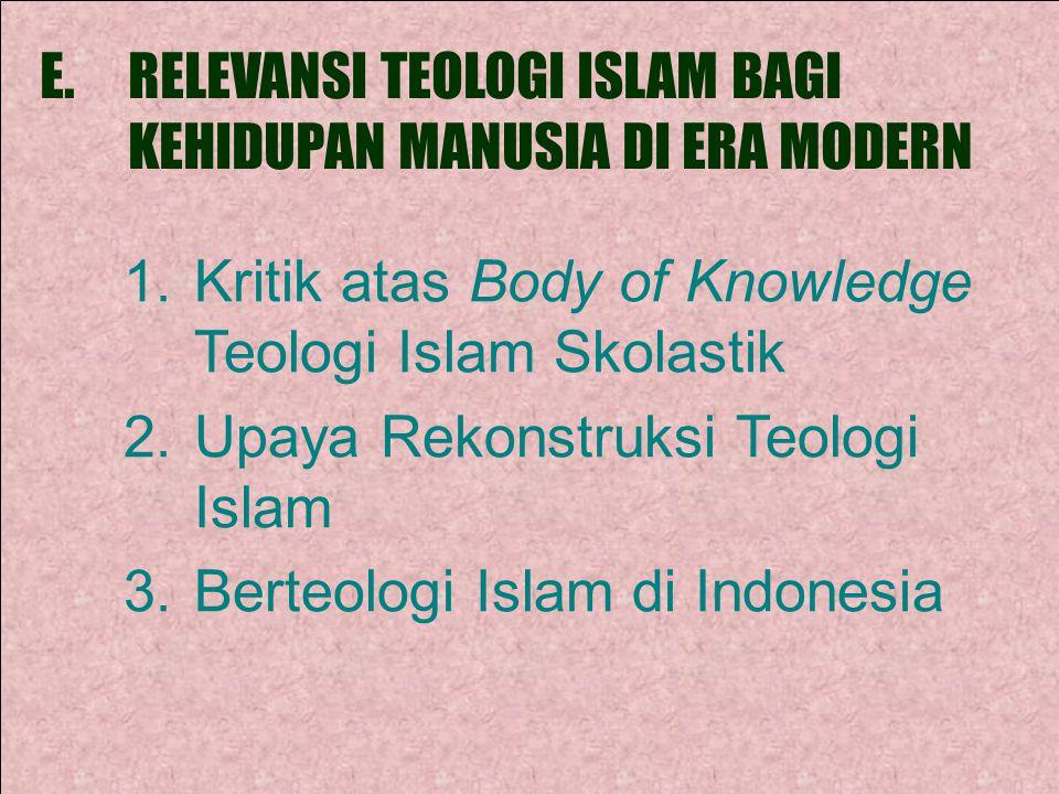 RELEVANSI TEOLOGI ISLAM BAGI KEHIDUPAN MANUSIA DI ERA MODERN