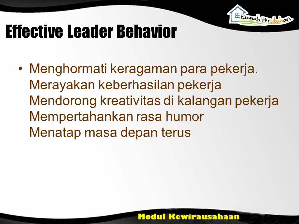 Effective Leader Behavior